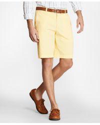 Brooks Brothers Mens Cotton//Linen 10 Inseam Bermuda Shorts