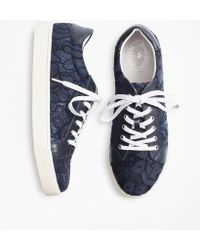 Brooks Brothers - Floral Lace Low-top Trainers - Lyst