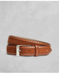 Brooks Brothers - Golden Fleece® Perforated Suede Leather Belt - Lyst