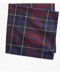 Brooks Brothers - Plaid Pocket Square - Lyst
