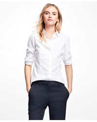 Brooks Brothers - Petite Non-iron Tailored-fit Dress Shirt - Lyst