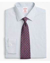 Brooks Brothers - Stretch Madison Classic-fit Dress Shirt, Non-iron Alternating Framed Stripe - Lyst