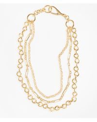 Brooks Brothers - Gold-plated Three-layer Chain Necklace - Lyst