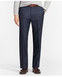 Brooks Brothers - Madison Fit Stretch Flannel Trousers - Lyst