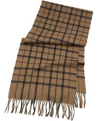 Brooks Brothers - Tattersall Camel Hair Scarf - Lyst