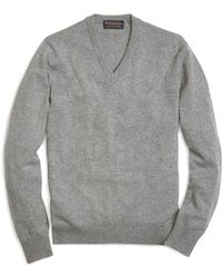 Brooks Brothers | Cashmere V-neck Sweater-basic Colors | Lyst