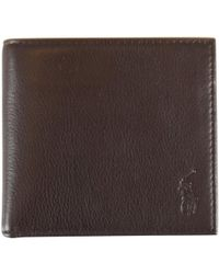 Polo Ralph Lauren - Brown Leather Billfold Wallet - Lyst