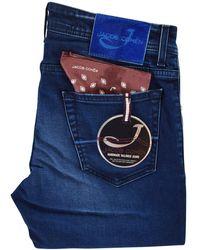 Jacob Cohen - Dark Blue Tailored Jeans - Lyst