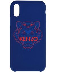 KENZO - Navy And Red Tiger Iphone Xand Case - Lyst