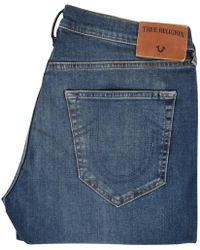 True Religion - Dusty Rider Blue Geno Relaxed Slim Jeans - Lyst