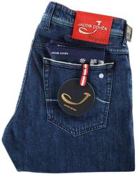 Jacob Cohen - Blue/red Detailing Limited Edition Denim Jeans - Lyst