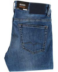 BOSS by Hugo Boss - Light Wash Blue Slim Fit Jeans - Lyst
