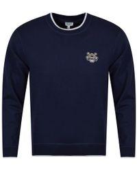KENZO - Navy Tiger Crest Sweatshirt - Lyst