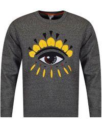 KENZO - Anthracite/yellow Eye Logo Sweatshirt - Lyst