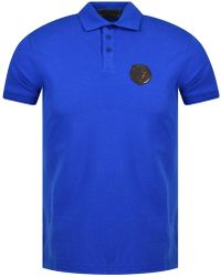 0a9b47fa15cc7 Lyst - Love Moschino Plain Badge Polo Shirt