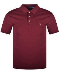 Polo Ralph Lauren - Wine Coloured Slim Fit Polo Shirt - Lyst