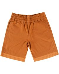 KENZO - Paprika Coloured Jogger Shorts With Polyester Overlay - Lyst