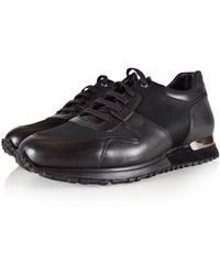 MALLET FOOTWEAR   Midnight Black Almorah Trainers   Lyst