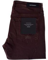 Represent - Maroon Ripped Knee Destroyer Denim Jeans - Lyst
