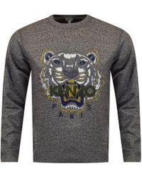 65af68b5 KENZO Anthracite/yellow Eye Logo Sweatshirt in Gray for Men - Lyst