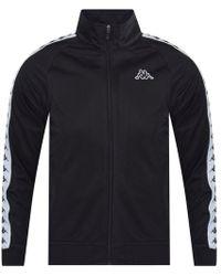 Kappa - Black/white Logo Sleeve Track Top - Lyst