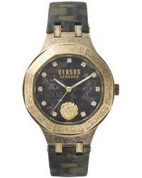 Versace - Camo/gold Versace Vsp350217 Watch - Lyst