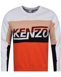 KENZO - White/colour Block Sweatshirt - Lyst