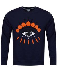 KENZO - Navy/orange Eye Logo Sweatshirt - Lyst