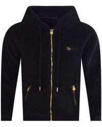 3bc85c156 True Religion - Black Fleece Hooded Jacket - Lyst