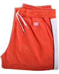 AMI - Red/white Track Trousers - Lyst