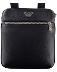de98ad50199b Emporio Armani - Business Flat Messenger Bag Men s Pouch In Black - Lyst