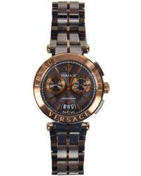 Versace - Bronze-gray Aion Chrome Watch - Lyst