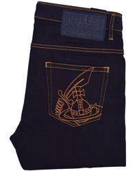 Vivienne Westwood - Dark Denim Slim Fit Jeans - Lyst