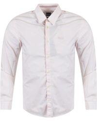 BOSS Athleisure - Light Pastel Pink Shirt - Lyst