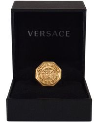 Versace - Greca And Medusa Ring - Lyst
