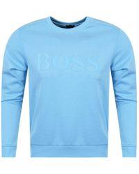 BOSS Athleisure - Open Blue Sweatshirt - Lyst