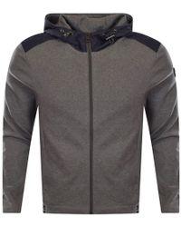 Michael Kors - Grey Zip Through Hooded Jumper - Lyst