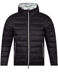 Emporio Armani - Black/silver Reversible Padded Jacket - Lyst