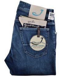 Jacob Cohen - Light Blue Handmade Tailored Jeans - Lyst