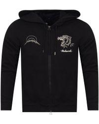 Maharishi - Black Tiger Stitched Hoodie - Lyst