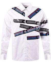 DSquared² Tape Prints Shirt In White