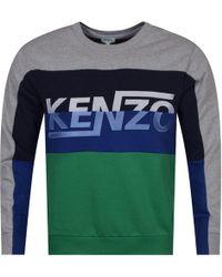 KENZO - Pale Grey/block Colour Design Sweatshirt - Lyst