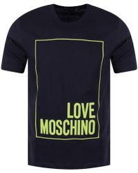 Love Moschino - Large Logo T-shirt - Lyst