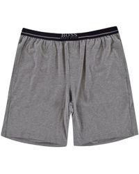 BOSS - Hugo Stretch Cotton Shorts In Grey - Lyst