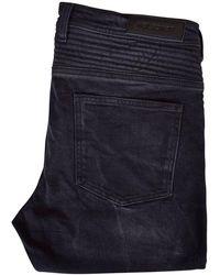 Neil Barrett - Washed Black Skinny Biker Jeans - Lyst