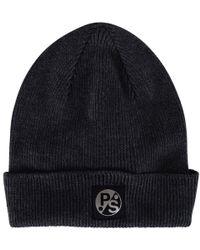 PS by Paul Smith - Paul Smith Grey Logo Beanie - Lyst