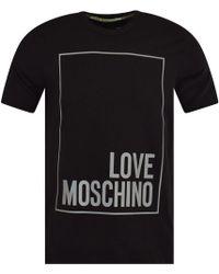 4f7dbe4e Love Moschino - Reflective Logo T-shirt, Regular Fit Tee - Lyst