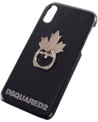 DSquared² - Black Maple Leaf Iphone X Case - Lyst