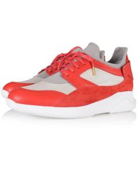 MALLET FOOTWEAR - Mallet Dalston Red Trainers - Lyst