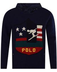 Polo Ralph Lauren - Navy Ski Fleece Pullover Hoodie - Lyst